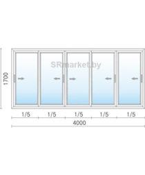 Балконная рама 4000 1700