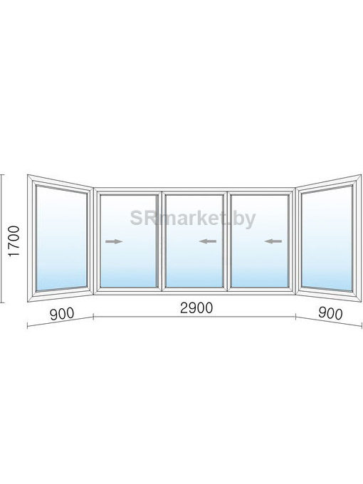 Балконная рама 4700 1700