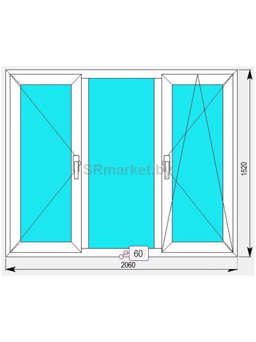 окно ПВХ 2060