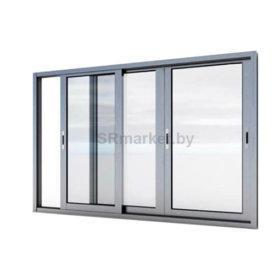 Рама раздвижная алюминиевая для балконов и террас
