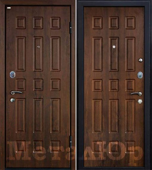 Дверь м3 темный орех