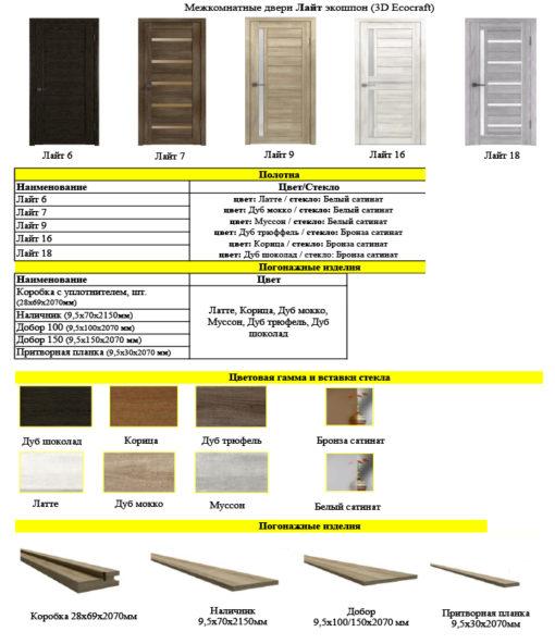 Межкомнатные двери 3D EKOCRAFT серии Light (Лайт) модель 9